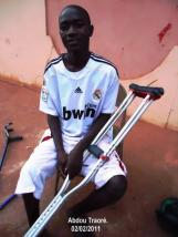 Abdou après son opération