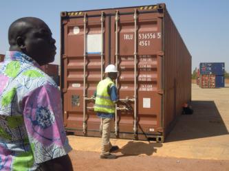 Container de l'association Nouna de Quimper