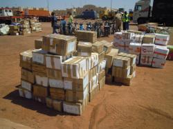 Le déballage des cartons à Bobo