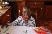 Ibrahim dans sa famille d'accueil - 1