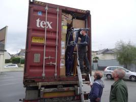 Fermeture du container à Lorient